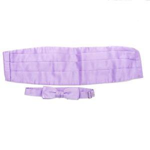740 Purple Tuxedo Cummerbund & Bow Tie